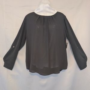 NWT Meraki Long Sleeve Blouse Sz L